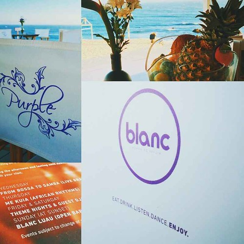 Purple @ Blanc