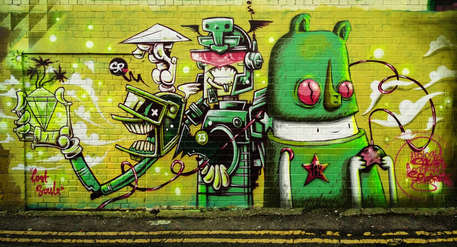 Bezienswaardigheden in Brighton: Street art in Brighton | Mooistestedentrips.nl