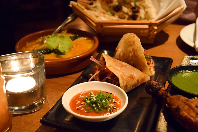 South Indian Pulled Duck Wraps at Roti Chai, Marylebone #indian #smallplates #marylebone #london