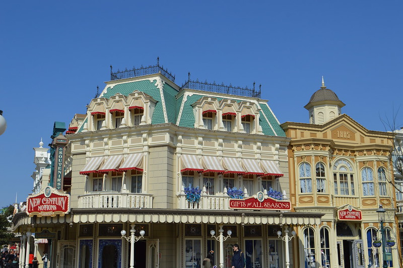 This is a picture of the Disneyland Paris main street