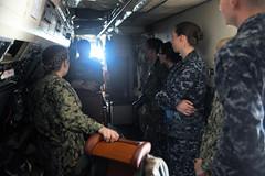 Presidio Sailors tour Navy surveillance plane