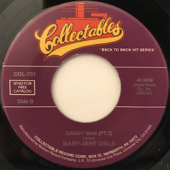 MARY JANE GIRLS:CANDY MAN(LABEL SIDE-B)