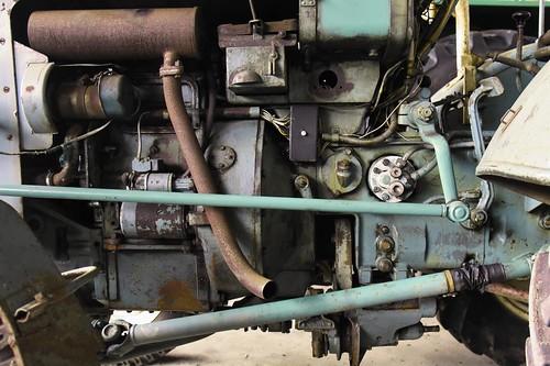 Oldtimer - Traktor-Motor; Linden, Dithmarschen (42)