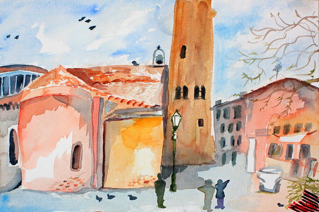 Campo S. Giacomo watercolor by Olga