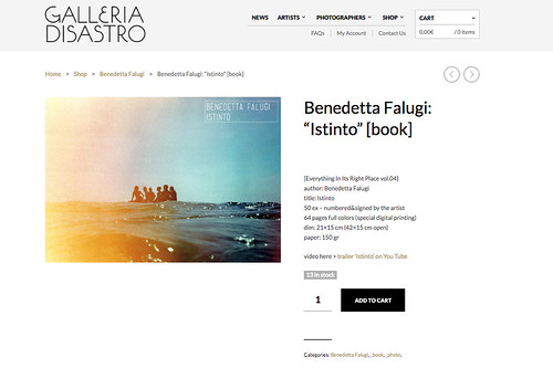 """Istinto"" - Benedetta Falugi  (photobook)"