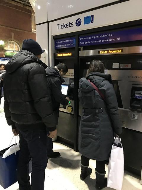 Ticket machines,  London
