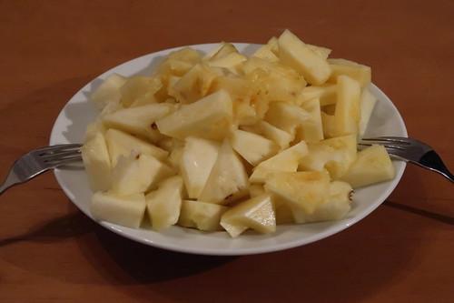 Aufgeschnittene Ananas