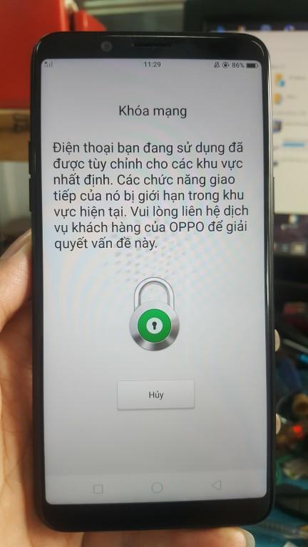 Unlock mở mạng Oppo A73 2018 CPH1725 ok lấy liền TPHCM