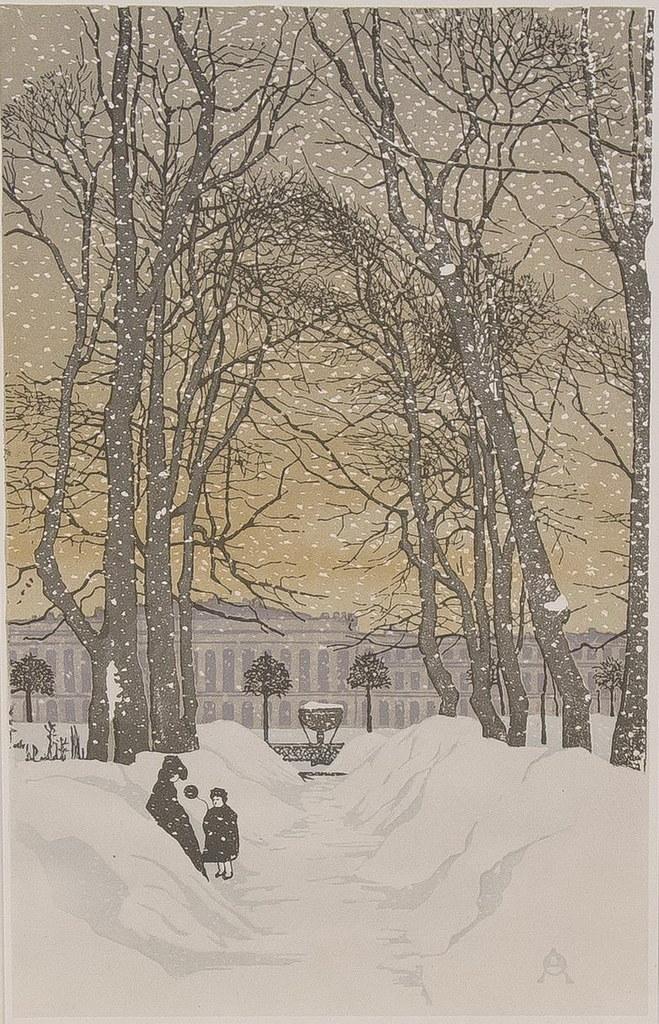 Анна Остроумова-Лебедева «Летний сад зимой», 1902 г. — Картинотерапия для  всех желающих