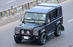 Land Rover Defender 110 double cab pickup, Bangladesh.