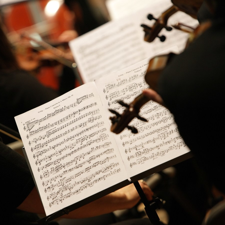 Musicians Practicing in a Classical Ensemble