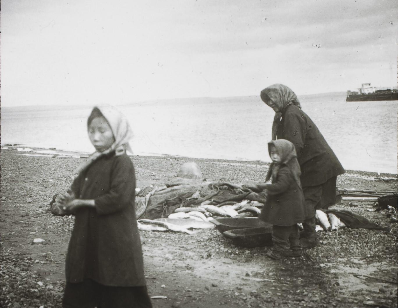 Якутская область. Маленькие якутские рыбаки, Нижняя Лена