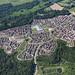 The Queen Hills development in Norwich - Norfolk UK aerial