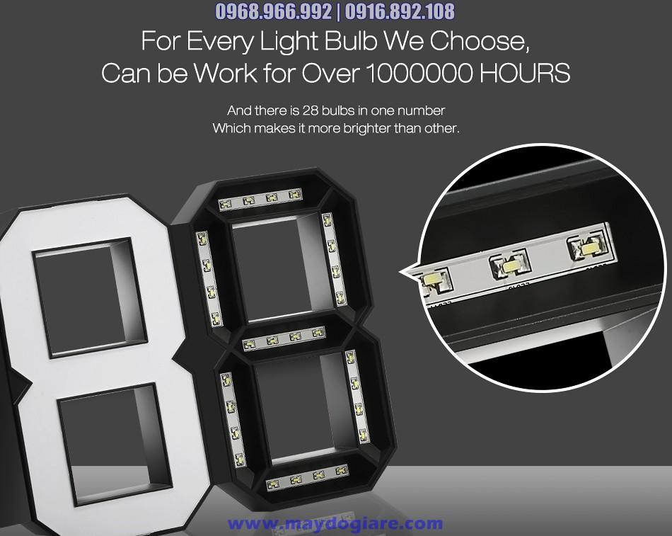 Được chế tạo từ 128 LED siêu sáng, tuổi thọ trên 1,000,000 giờ