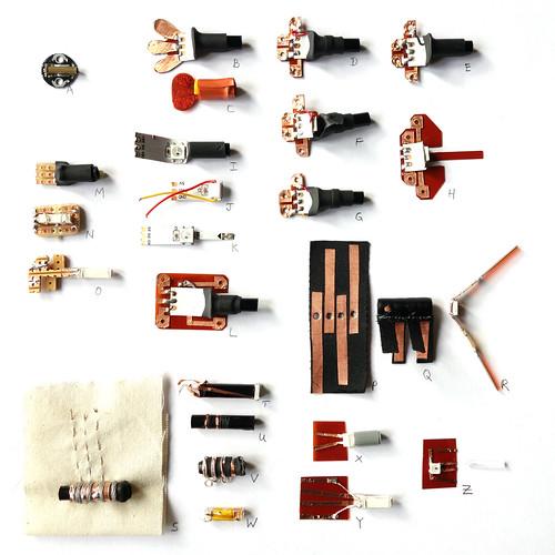E-Textile to LED to Optic Fiber connectors