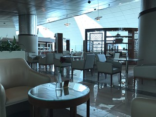Business Class Lounge at Dubai Airport
