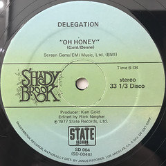 DELEGATION:OH HONEY(LABEL SIDE-B)