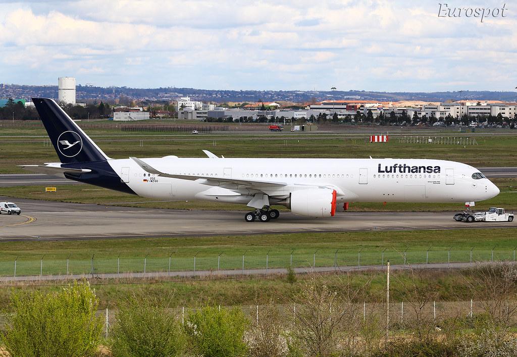 F-WZGO Airbus A350 Lufthansa. New livery