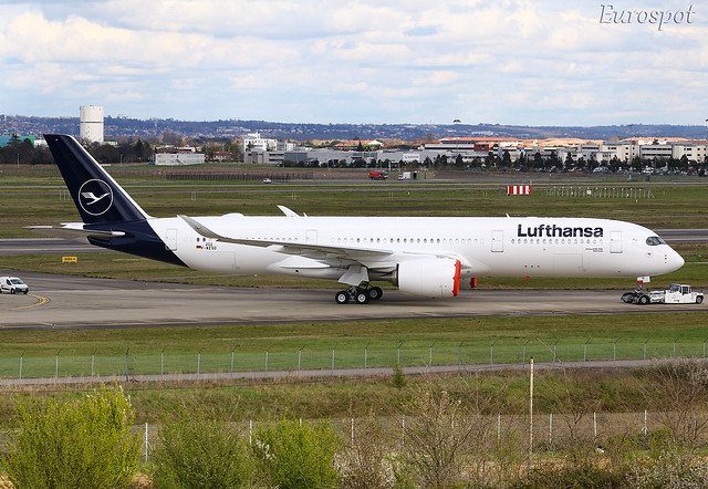 F-WZGO Airbus A350 Lufthansa. New livery