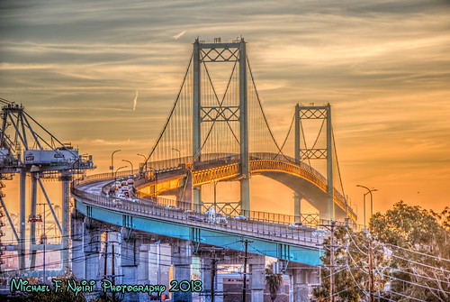 vincentthomasbridge knollhill sanpedro sunrise bridge losangeles california southerncalifornia