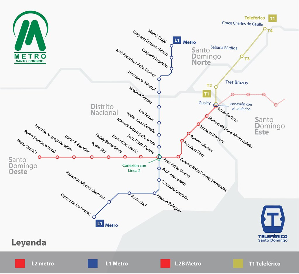 Santo Domingo Metro Map.Metro Map Updated