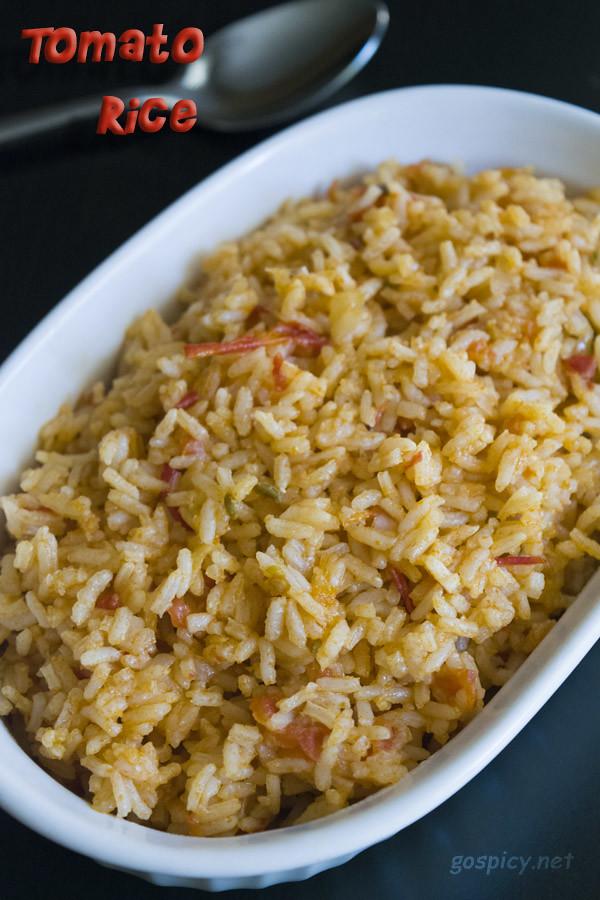 Tomato Rice | Tomato Biriyani Recipe by GoSpicy.net