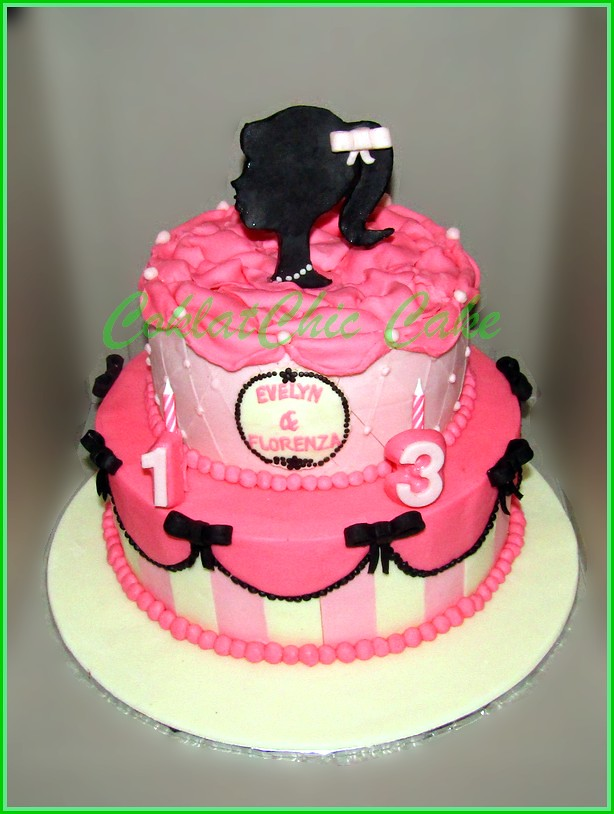 Cake Barbie EVELYN & FLORENZA 15/22 cm