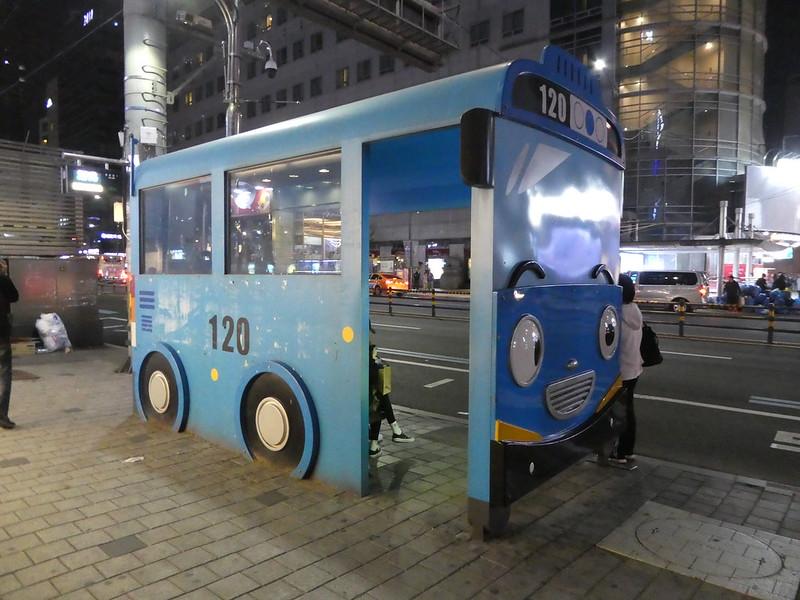 Bus shelter, Myeongdong, Seoul