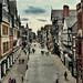 Looking along Eastgate, Chester by karolgadge