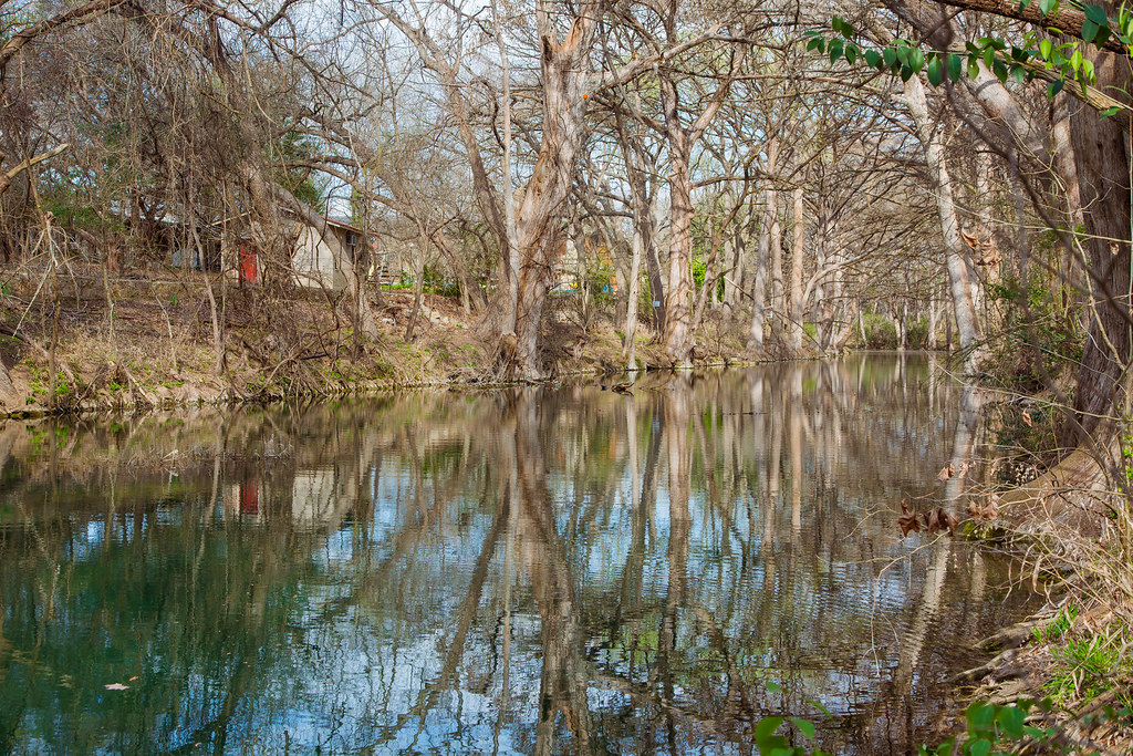 Looking down the creek in Wimberly.