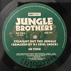 JUNGLE BROTHERS:BLACK IS BLACK(LABEL SIDE-B)
