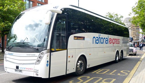 BV17 GVE 'Go North East' No. 7134, 'national express'. Volvo B11RT / Caetano Levante on 'Dennis Basford's railsroadsrunways.blogspot.co.uk'