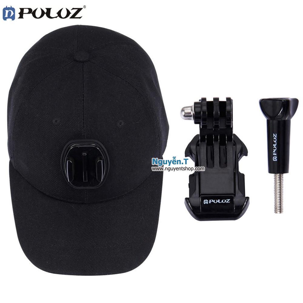 Mũ lưỡi trai thay dây đeo đầu cho GoPro hero + J-Hook mount + Vít vặn GoPro hãng PULUZ