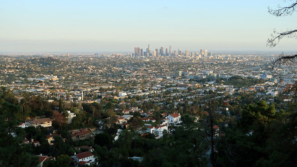 Looking down on Los Angeles from the Griffith Observatory