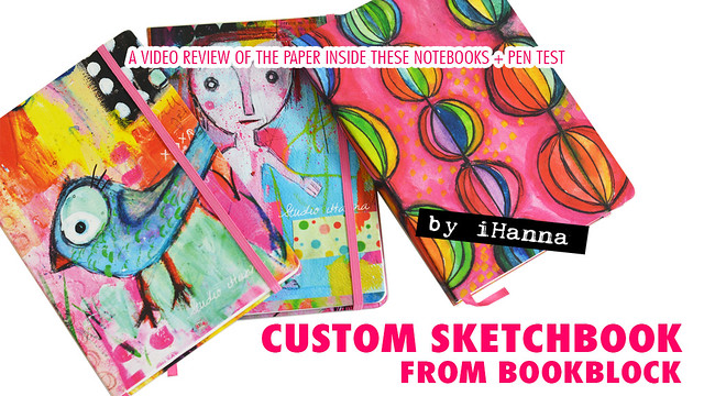 Custom Sketchbooks from Art Journal Pages