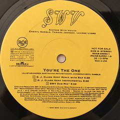 SWV:YOU'RE THE ONE(REMIXES)(LABEL SIDE-B)