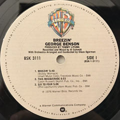 GEORGE BENSON:BREEZIN'(LABEL SIDE-A)