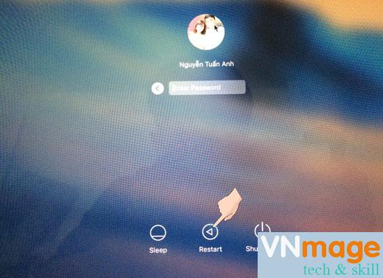 cách lấy lại mật khẩu cho Macbook