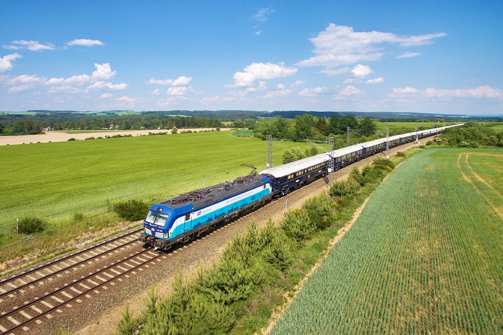 ELL / ČD 193.289 | VSOE Venice Simplon-Orient-Express | Pňovany zas. - Pňovany (CZ) 26.5.2018
