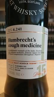 SMWS 4.241 - Humbrecht's cough medicine