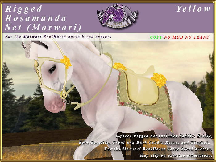 Rigged Rosamunda Tack Set for the RealHorse Marwari - TeleportHub.com Live!