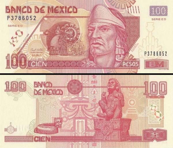 100 Pesos Mexiko 2008-14, P118