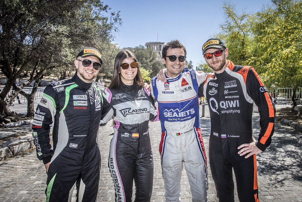REMENIK Sergei, Mitsubishi Lancer EVO X, portrait  FALCON Emma (esp), Citroen DS3 R3T, portrait MAGALHAES Bruno (prt), SKODA FABIA R5, portrait LUKYANUK Alexey (rus), Russian Performance Motorsport, FORD FIESTA R5, portrait during the European Rally Championship 2018 - Acropolis Rally Of Grece, June 1 to 3 at Lamia - Photo Gregory Lenormand / DPPI