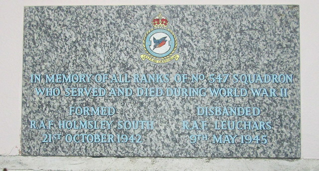547 Squadron Memorial, St Athernase Church, Leuchars