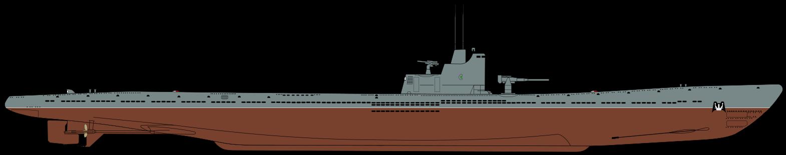 Силуэт подводной лодки С-56 типа «Средняя» серии IX-бис Silhouette of Soviet S-class submarine S-56 (IX-bis Serie)