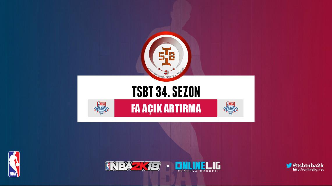 TSBT 34. Free Agent açık artırması