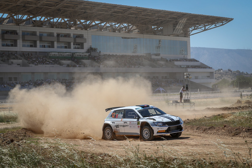 12 AVCIOGLOU Orhan (tur), KORKMAZ Burcin (tur), Skoda Fabia R5, action during the European Rally Championship 2018 - Acropolis Rally Of Grece, June 1 to 3 at Lamia - Photo Alexandre Guillaumot / DPPI