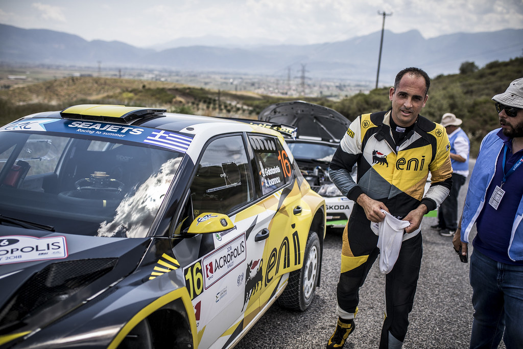 GALATARIOTIS Simos (cyp), IOANNOU Antonios (cyp), Skoda Fabia R5, portrait during the European Rally Championship 2018 - Acropolis Rally Of Grece, June 1 to 3 at Lamia - Photo Gregory Lenormand / DPPI