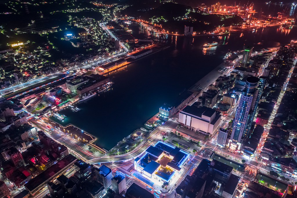 基隆市の空撮夜景