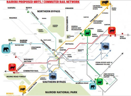 BRT Routes, Courtesy Standardmedia